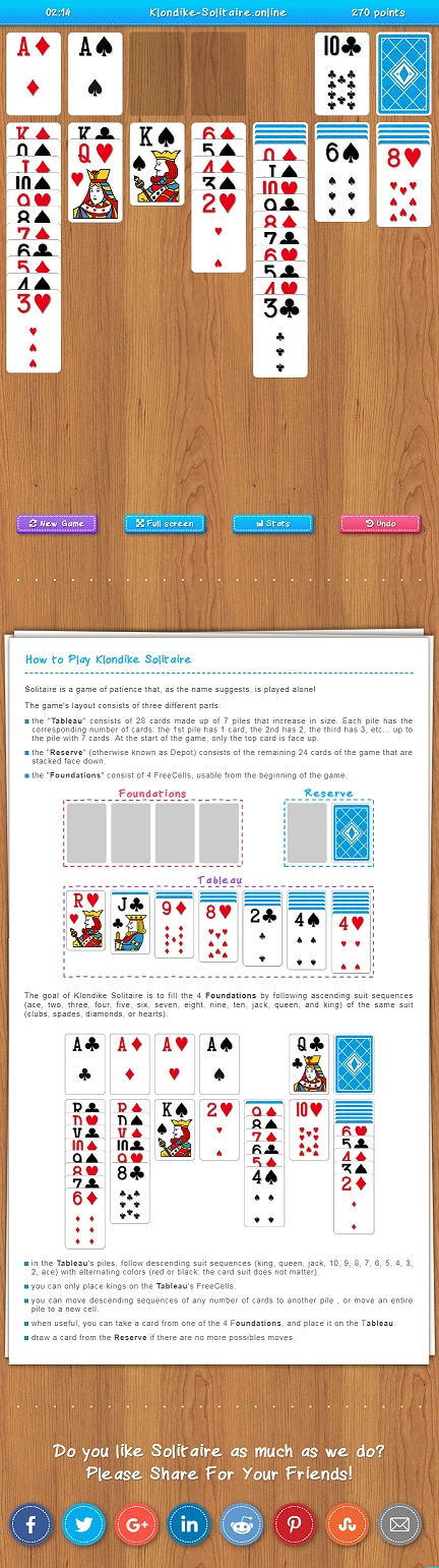Free klondike solitaire no ads